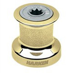 Harken Single Speed Size 6 Winch w/polished bronze base & drum, alum top