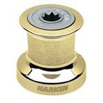 Harken Single Speed Size 6 Winch w/polished bronze base & drum, alum top