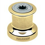 Harken Single Speed Winch Size 8 w/polished bronze base & drum, alum top