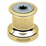 Harken Single Speed Winch Size 8 w/polished bronze base & drum, alum top