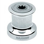 Harken Single Speed Winch Size 8 w/chromed bronze base & drum, alum top