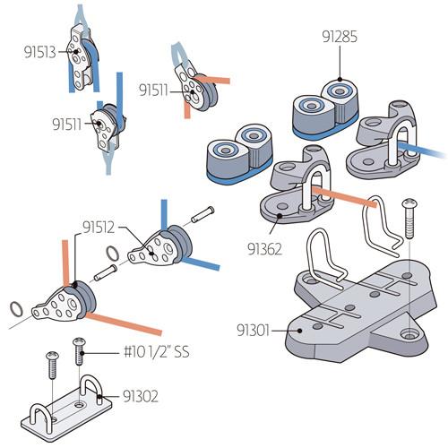 Laser Performance Laser Harken Outhaul/ Cunningham XD