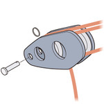 Laser Performance Laser Vang Block, w/ Jam Pin and Ring