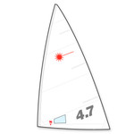 Laser Performance Laser 4,7 Sail by North Sails (Folded)