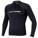 Magic Marine Cube Rash Vest L/S Men Black