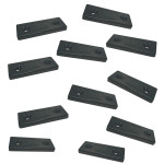Optiparts Mounting plate, 2 hole, Nylon, black, 10 pack