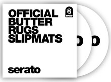 "12"" Serato 'Butter Rug' Slipmats WHITE  (pair)"