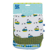 Kickee Pants Bib Set of 3, Sea Monster, Beanstalk & Four and Twenty Blackbirds