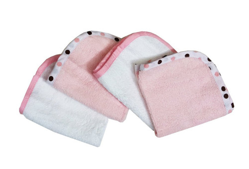 TL Care - Organic Cotton Terry Washcloth Set, Pink
