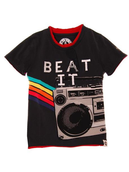Mini Shatsu - Beat It Boom Box Exra Fine Cotton Tee
