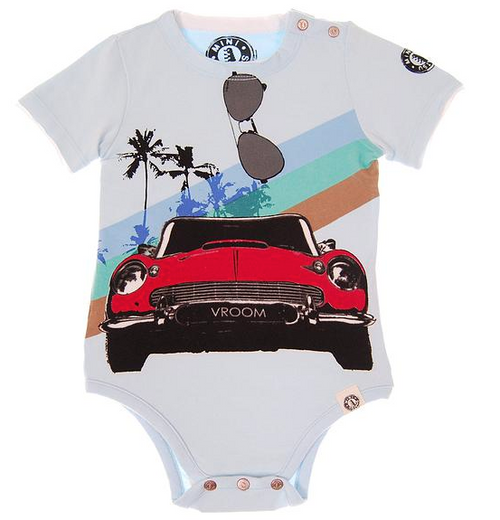 Mini Shatsu Classic Convertible Short Sleeve Bodysuit front