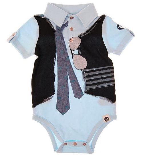 Mini Shatsu Real Tie Short Sleeve Polo Bodysuit