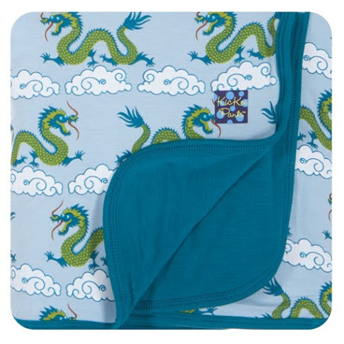 KicKee Pants Print Stroller Blanket, Cloud Dragon