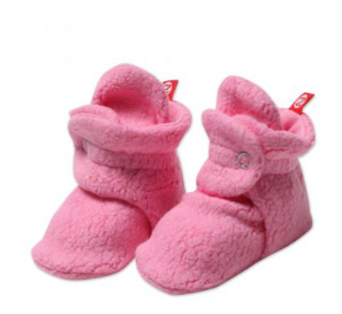 Zutano Cozie Fleece Bootie - Hot Pink