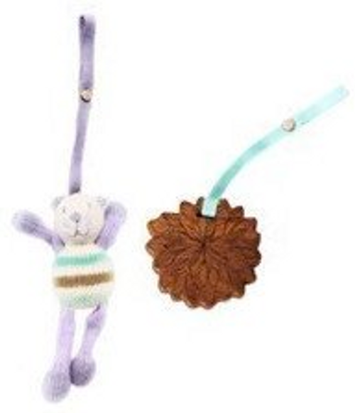 Finn + Emma 2pc Stroller Buddy Set (Lola Cat/Daisy Flower, O/S)