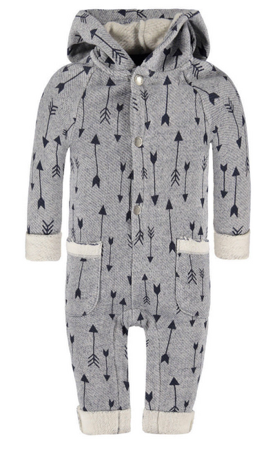 Bellybutton 100% Organic Cotton Coverall Hoodie, Arrow