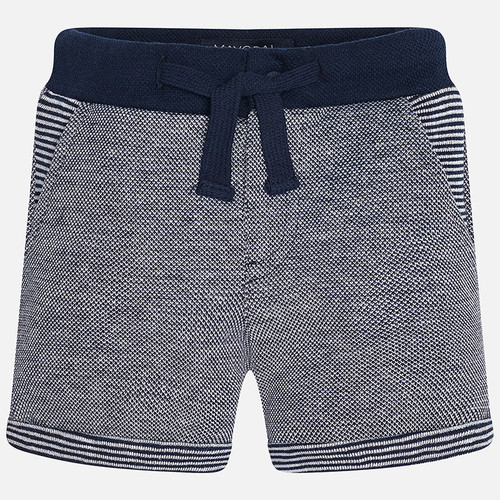 Mayoral Baby voy fleece shorts with drawstrings, Blue
