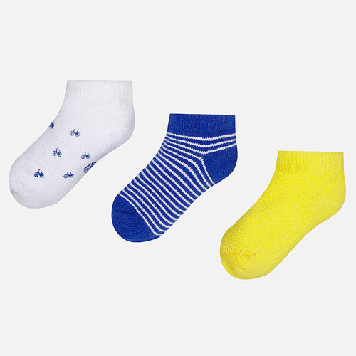 Mayoral Baby Socks Set of 3, Banana
