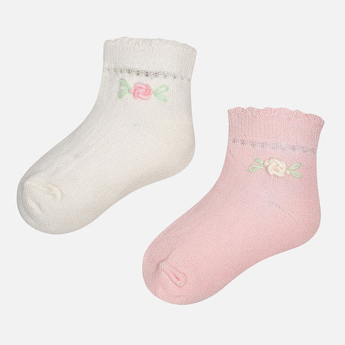 Mayoral Baby Socks Set of 2, Rose