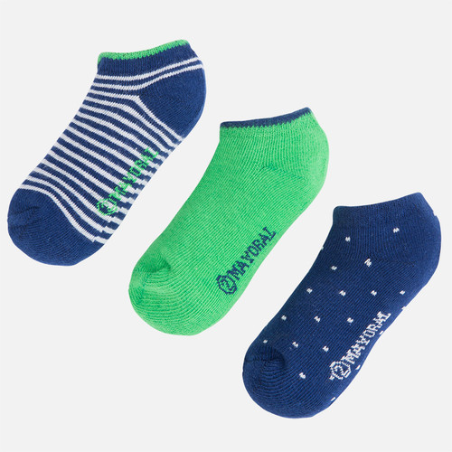 Mayoral Socks Set of 3, Arugula