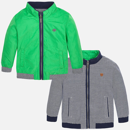 Mayoral Baby boy reversible windbreaker with zipper, Arugula