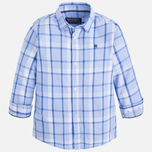 Mayoral Boys Long Sleeve Check Shirt - Paradise