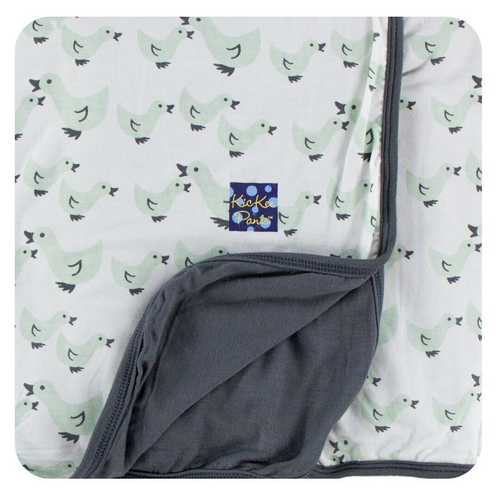 Kickee Pants Print Stroller Blanket, Natural Duckies
