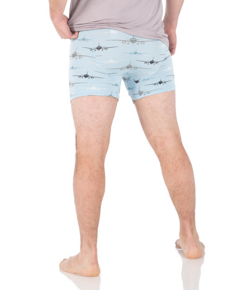 Kickee Pants Men's Boxer Briefs - Pond Airplanes