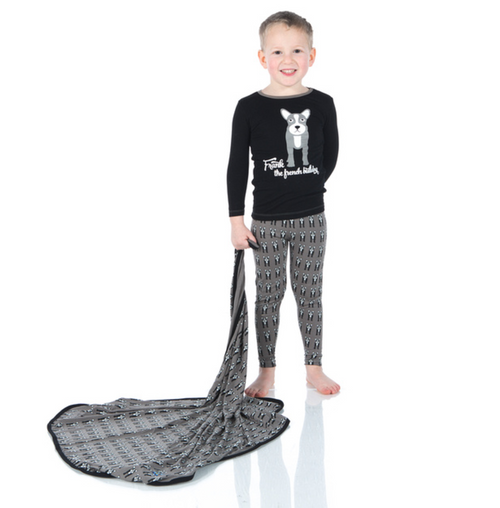 Kickee Pants Print Long Sleeve Pajama Set - French Bulldog