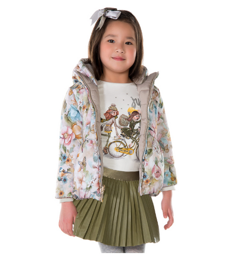 Mayoral Girls Reversible Coat, Root
