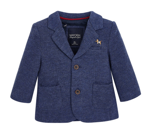 Mayoral Baby Boys Knit Formal Jacket, Blue