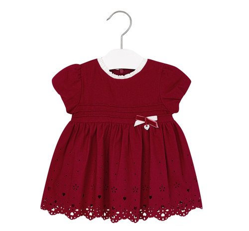 Mayoral Baby Girls Flannel Dress, Maroon