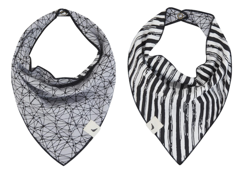 Turtledove London Organic Reversible Doodle Bib