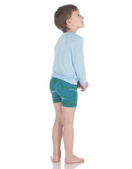 Kickee Pants Boxer Briefs Set of 2 - Seagrass Whale Shark & Midnight Boomerang