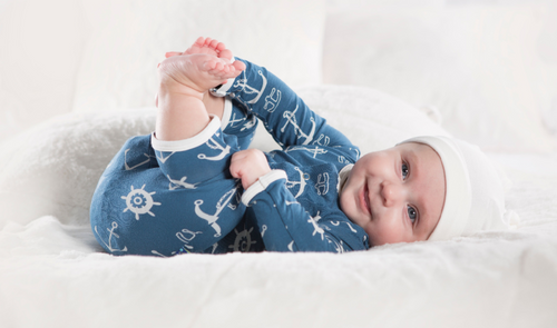 Kickee Pants Print Coverall with Snaps - Twilight Anchor