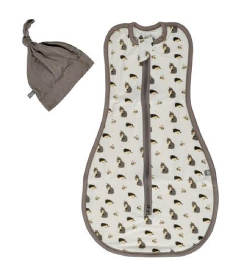 Kyte Baby Printed Swaddle Bag and Hat - Woodland 0.5