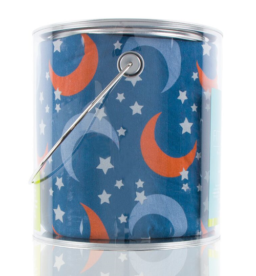 Kickee Pants Print Fitted Crib Sheet - Twilight Moon and Stars