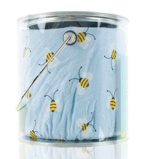 Kickee Pants Print Fitted Crib Sheet - Pond Bees