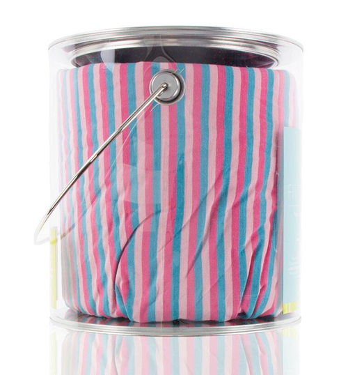 Kickee Pants Print Fitted Crib Sheet - Flamingo Anniversary Stripe