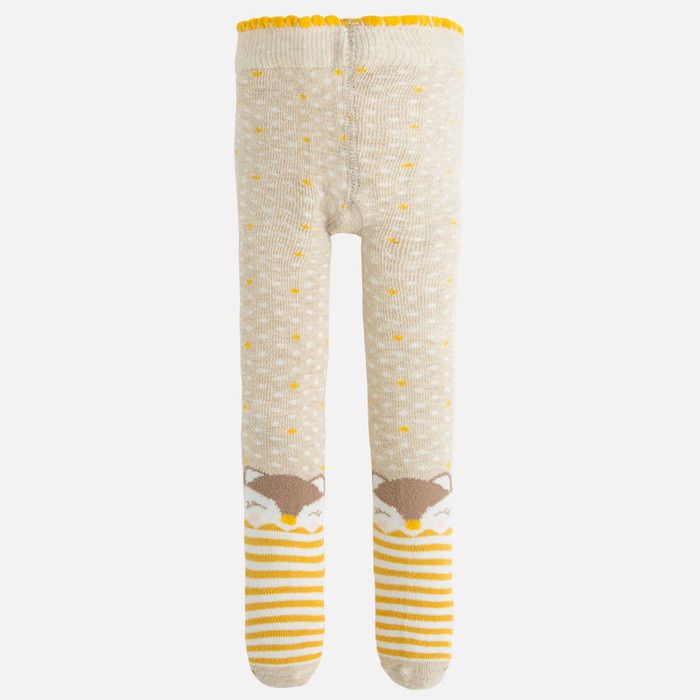 Mayoral Baby Girls Jacquard Tights, Chickpea