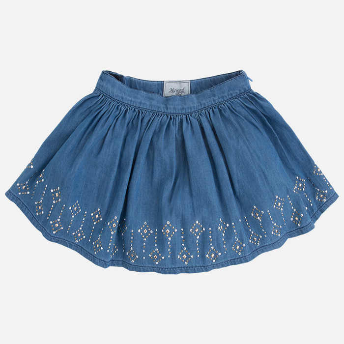 Mayoral Girls Short Skirt, Denim