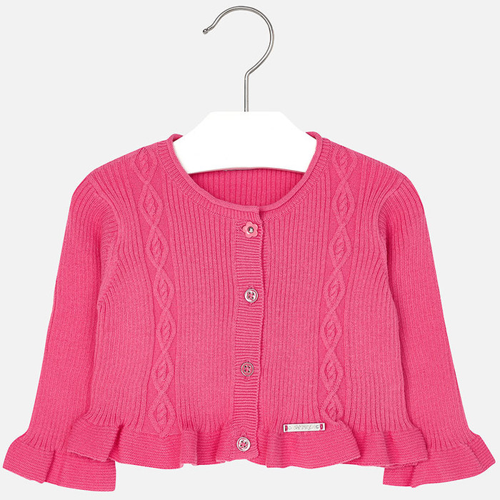 Mayoral Baby girl rib knit cardigan, Petunia