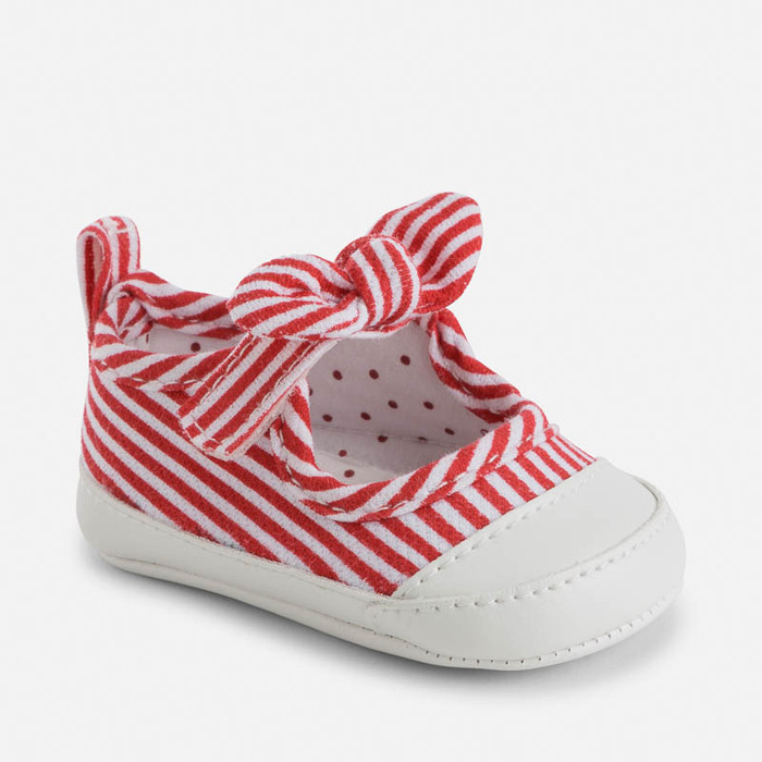 Mayoral Baby girl striped sport shoes with bows, Poppy