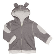Babysoy - Bamboo/Cotton Blend Fleece Hoodie, Thunder