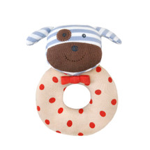 Apple Park - Organic Cotton Boxer the Dog Teething Rattle
