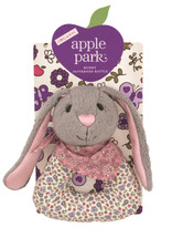 Apple Park - Organic Patterned Rattle, Bunny