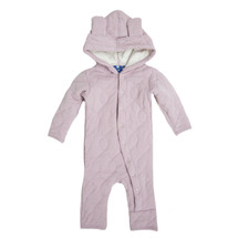 KicKee Pants Quilted Hoodie Coverall with Ears in Sweet Pea