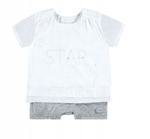 Bellybutton Organic Cotton Playsuit, Star