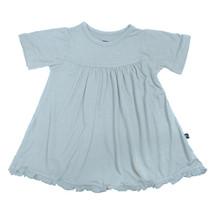 Kickee Pants Basic Short Sleeve Swing Dress, Pond (No Keyhole)
