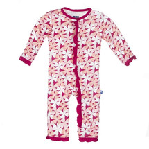 Kickee Pants Ruffle Coverall, Apple Blossom